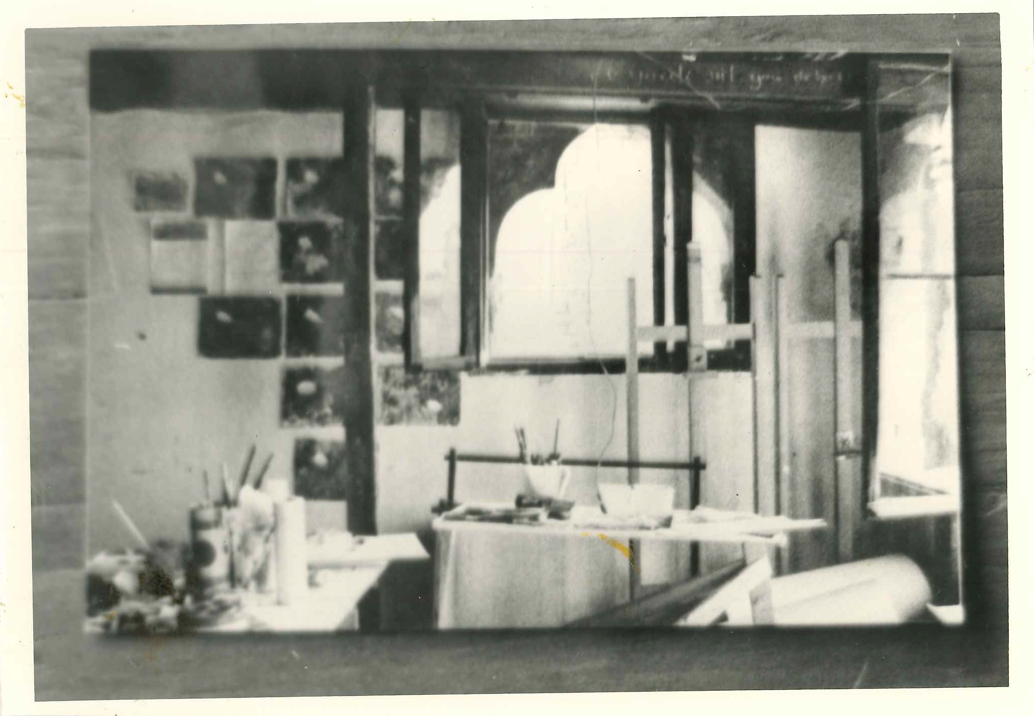 Corner of a studio in Palazzo Fortuny
