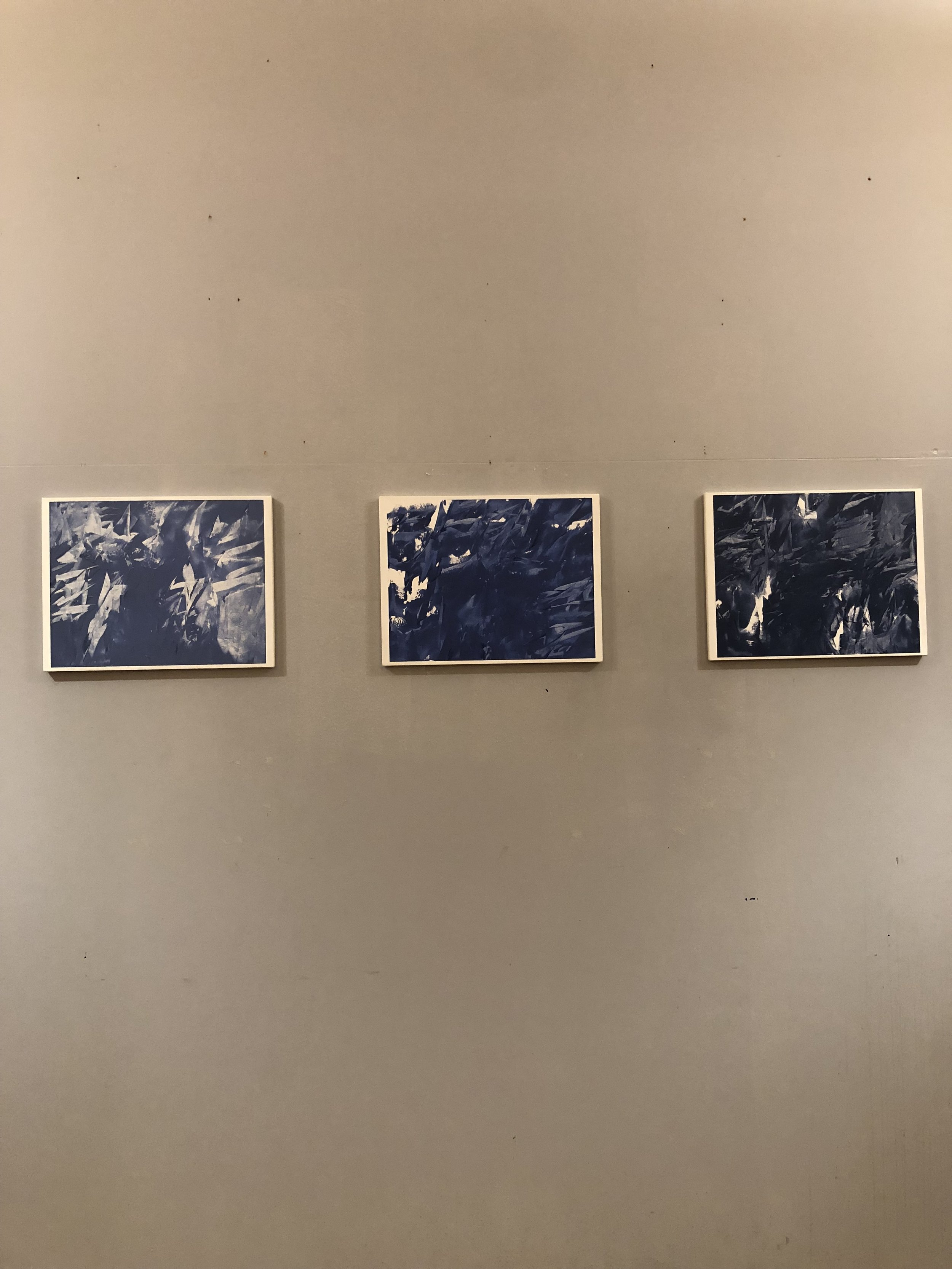 Exhibiting artist and painting faculty Michael Brennan's work.