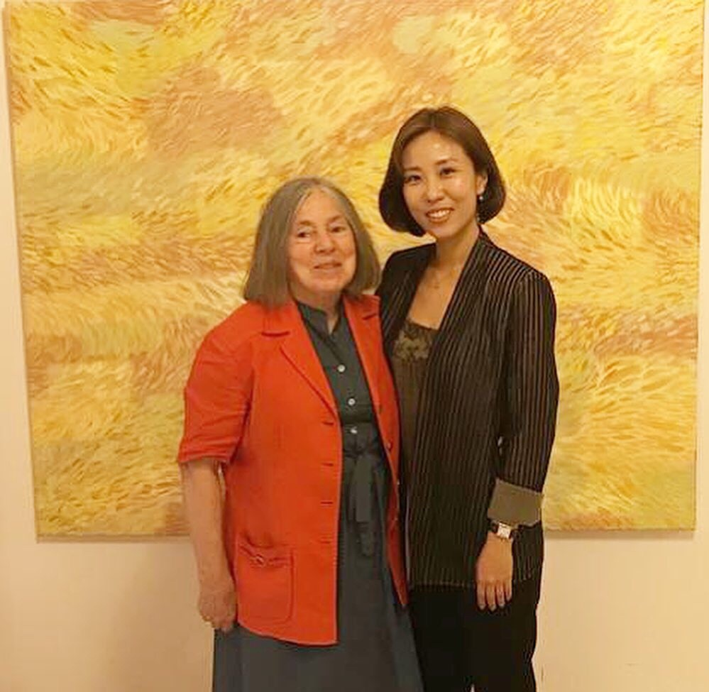 Hye won Hahn and Diana Gisolfi in the US Embassy in Rome.