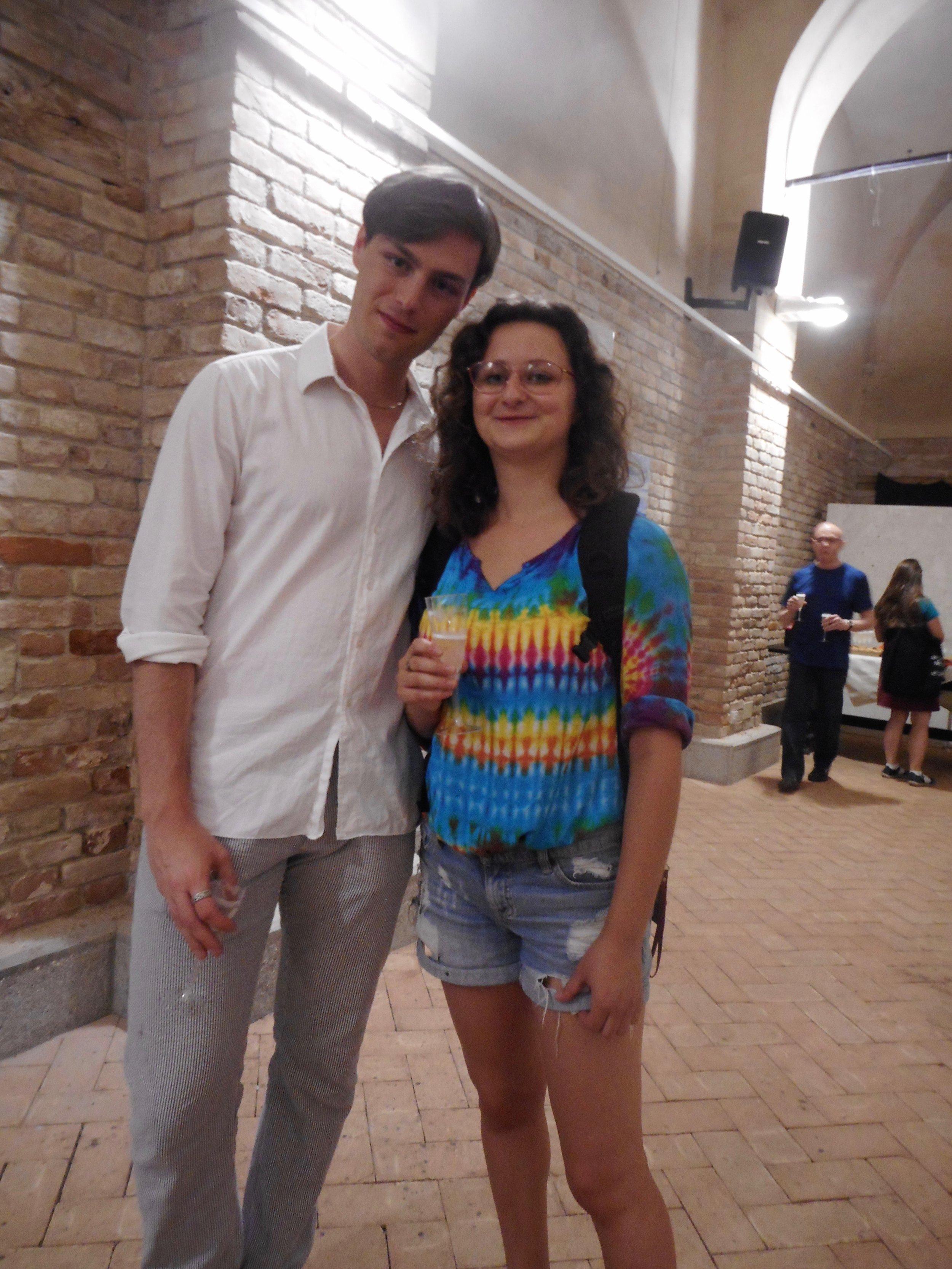 Alumna Abby Staub ('18) with Mattia Ongaro