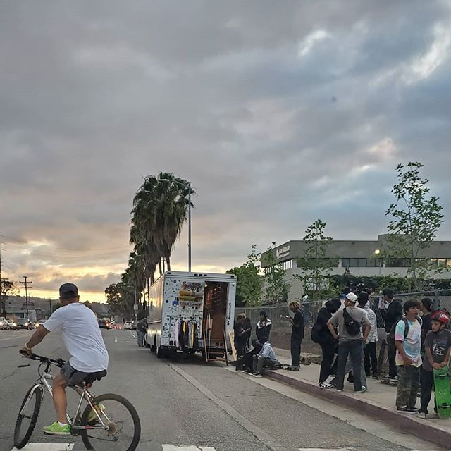 YO! Thanks to everybody that supported the bus popping up at Harbor City Skate park opening last night..Looking forward to more good vibes this summer!