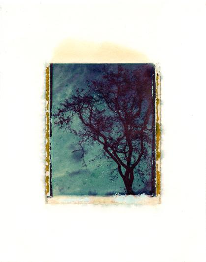"1470 Summit Run Circle ,Polaroid Transfer on hot press watercolor paper,6"" x 7.5"", 2011"