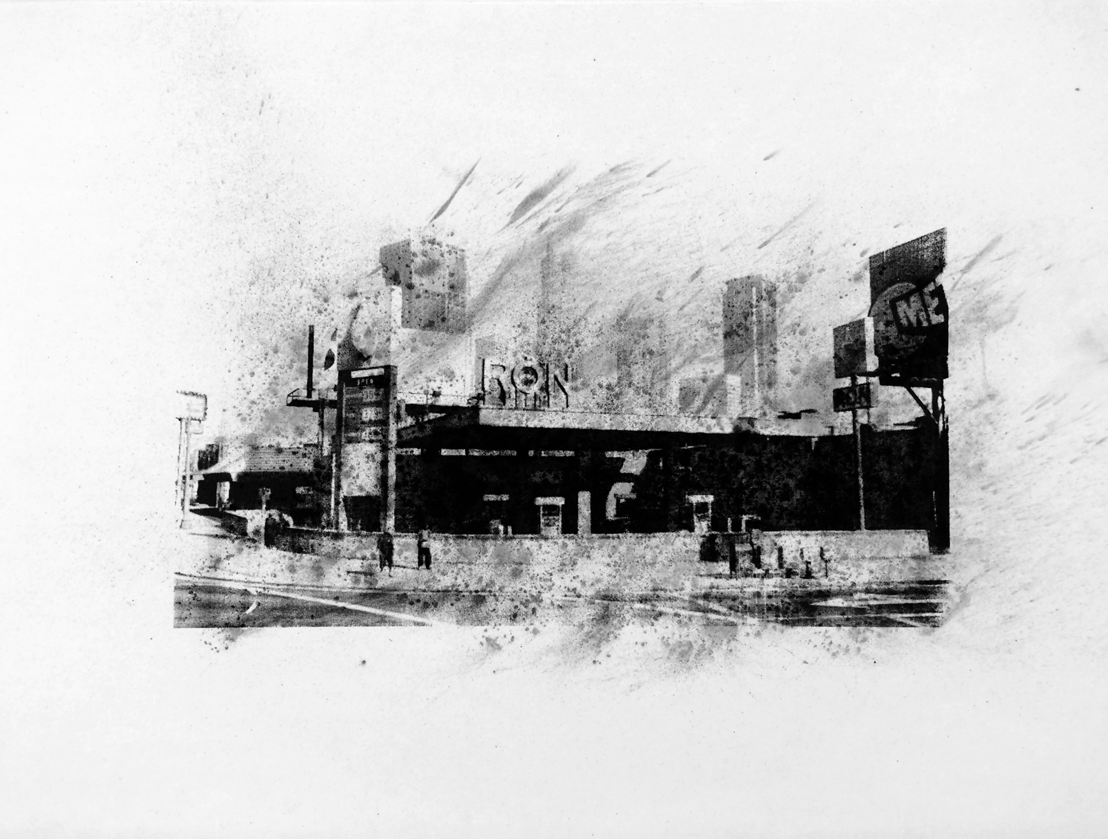 "Ron, Macdonald Street, Davis , Charcoal Screen Print, 18""x24"", 2016"