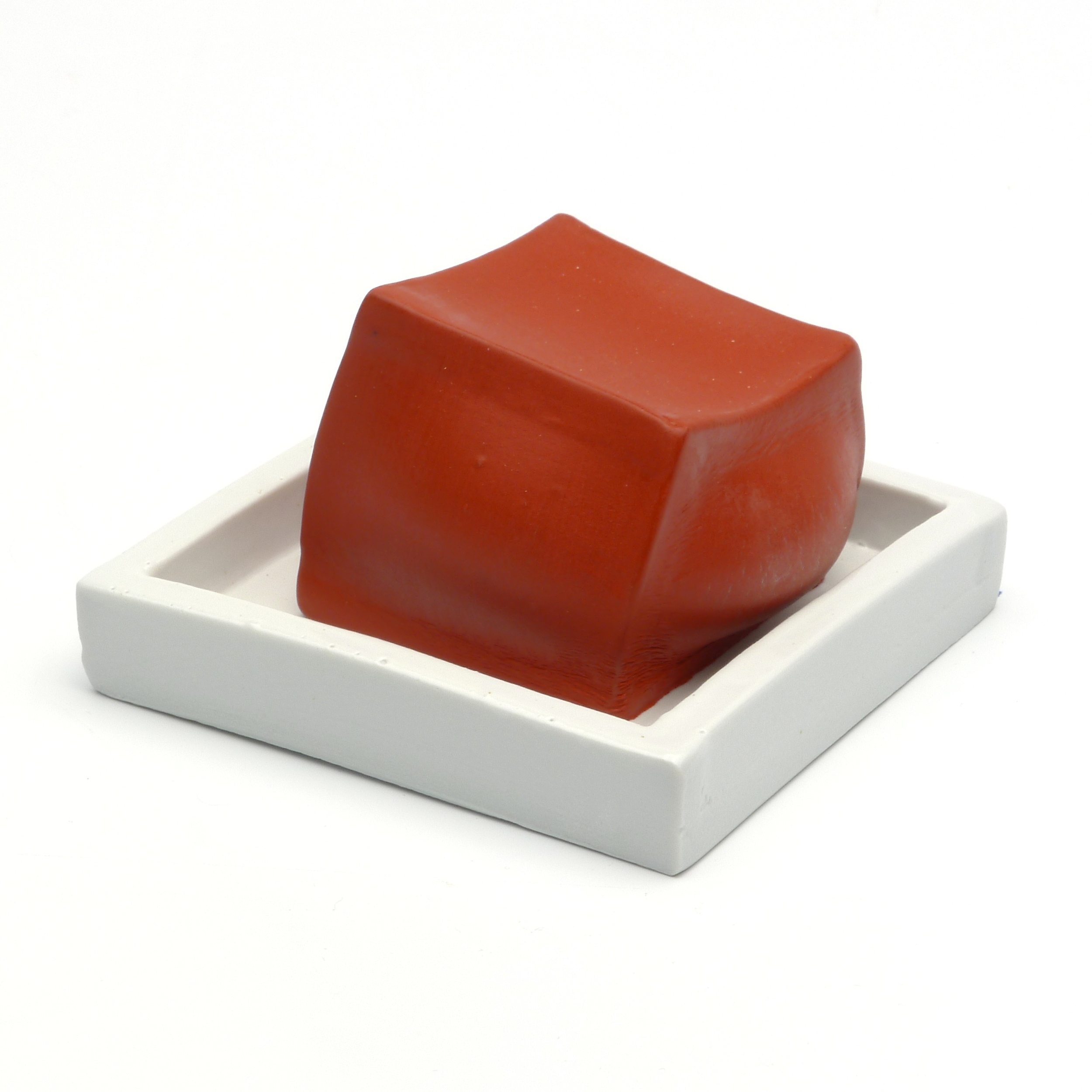 Slumped Red Cube