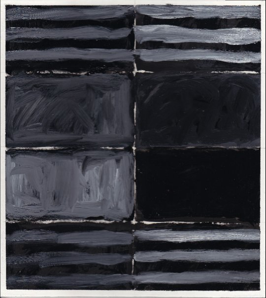 "Black Jet    Oil on Traditional Gesso on Wood Panel 11.25"" x 10"" ©2010"