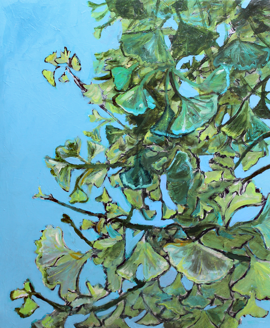 Gingko in Summer    Acrylic on Cradled Wood Panel ©2012 Private Collection