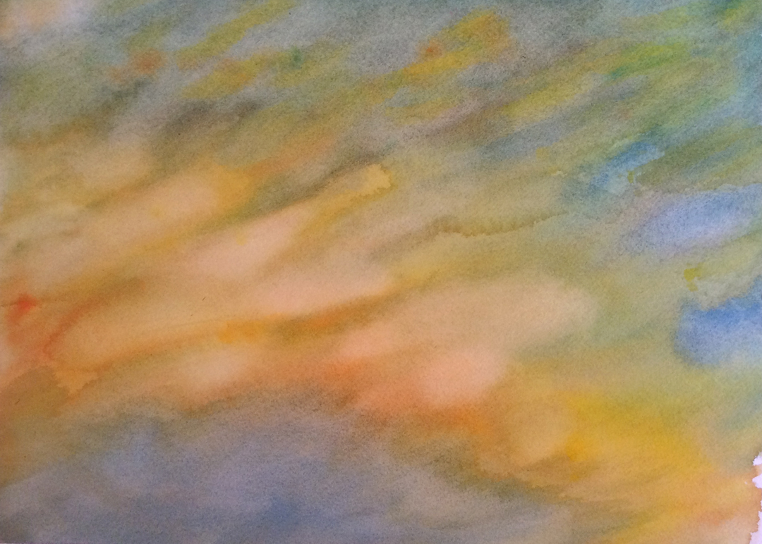 """watercolor on paper 10"""" x 14"""" © 2014"""