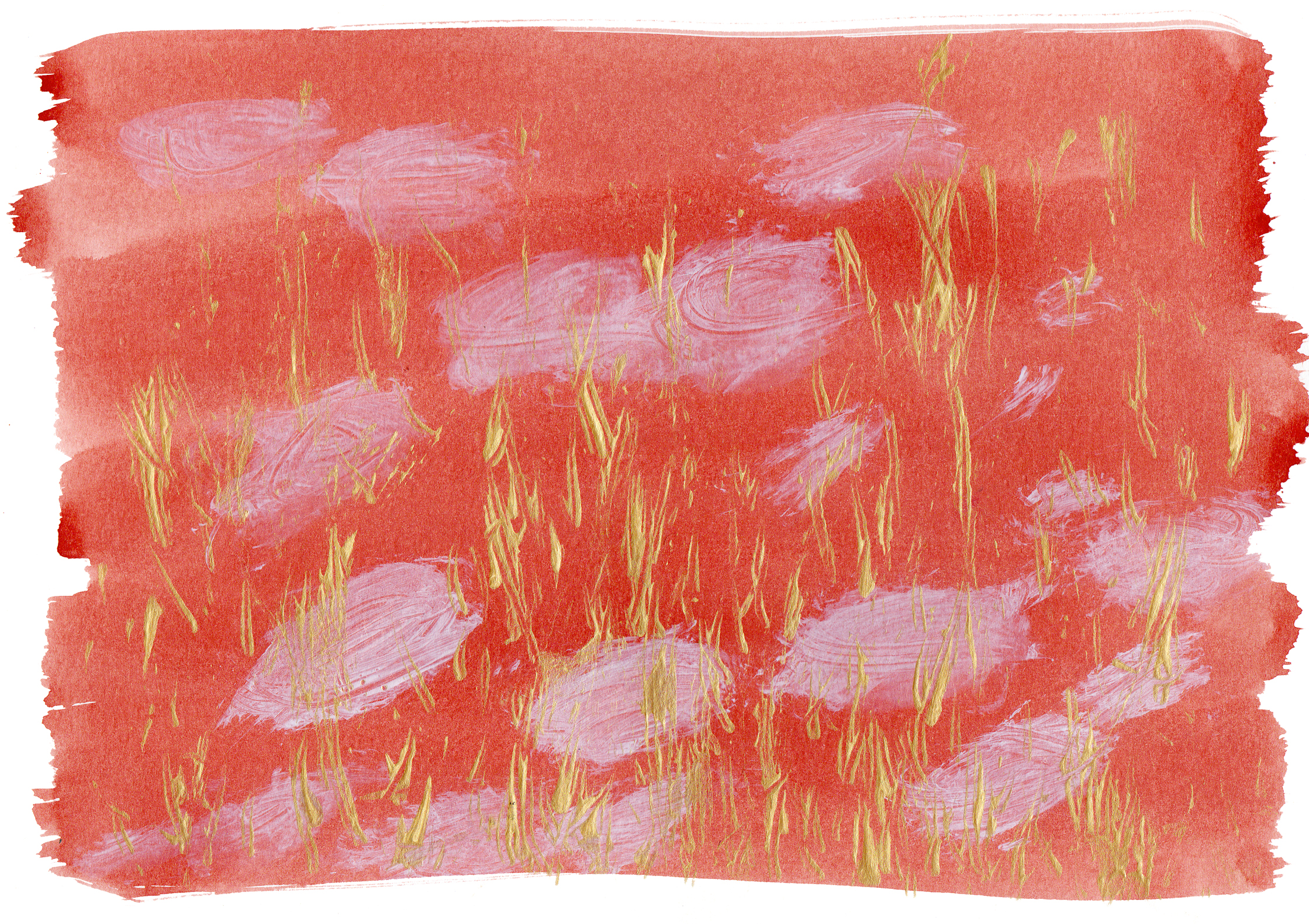 "Lily Pond 1    Acrylic on Paper 8.5"" x 11.75"" © 2014"