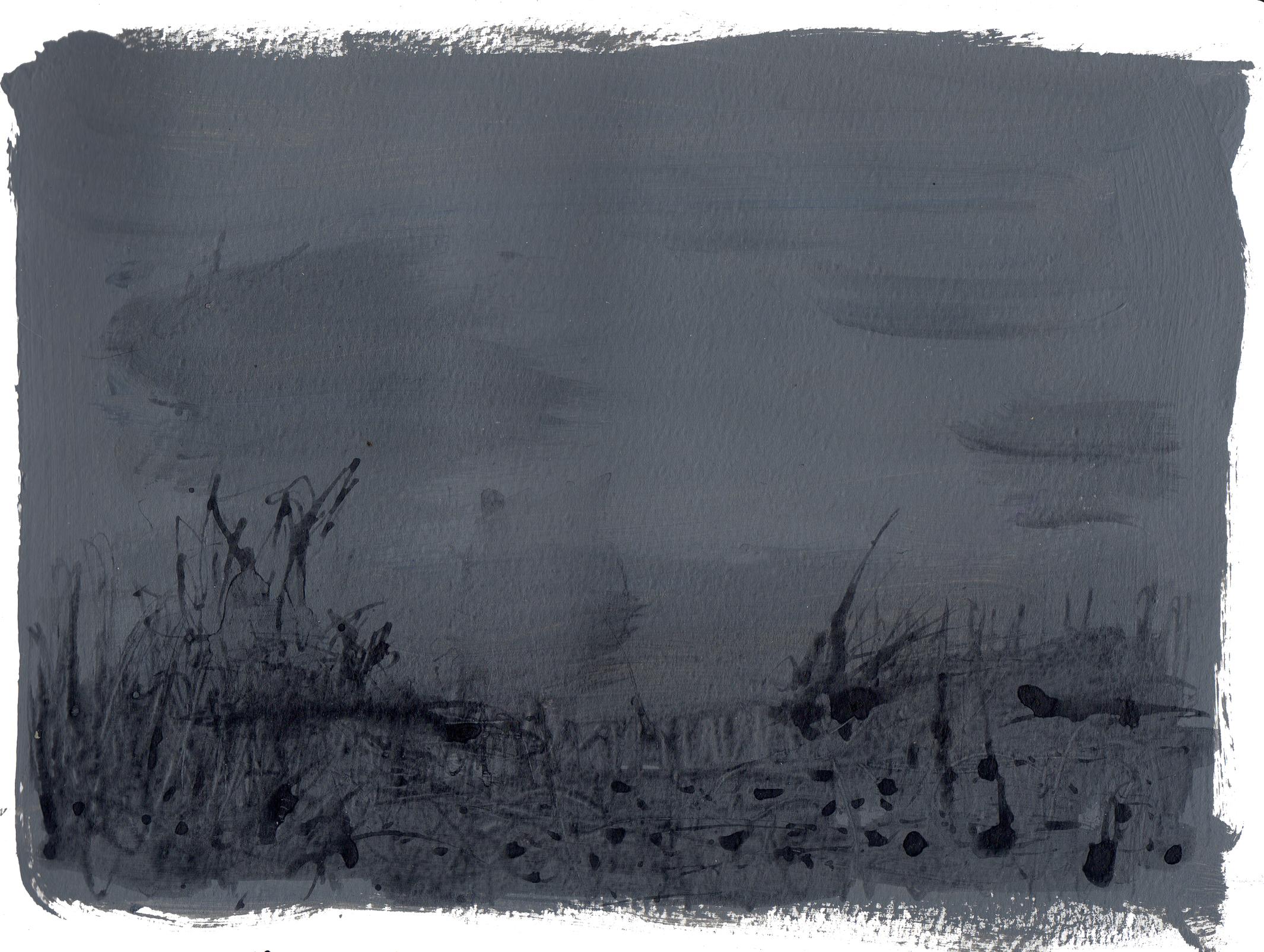 "field   Acrylic on Paper 8.5"" x 11.75"" ©2014"