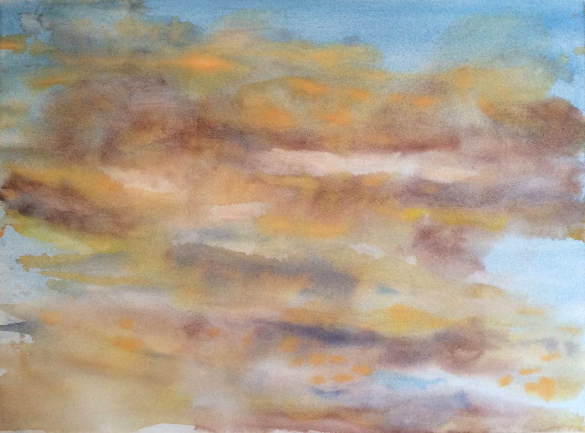 """watercolor on paper 22"""" x 30"""" © 2014"""