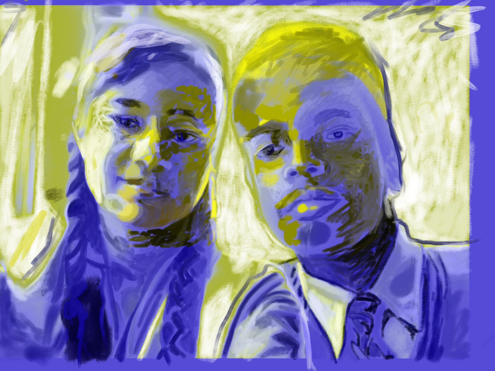 Best Friends, Children Of the Sun  FBSelfie, ProCreate, Pencil 53, Photoshop, iPad, Desktop Digital Image Dimensions Variable © SP/MWW.2015