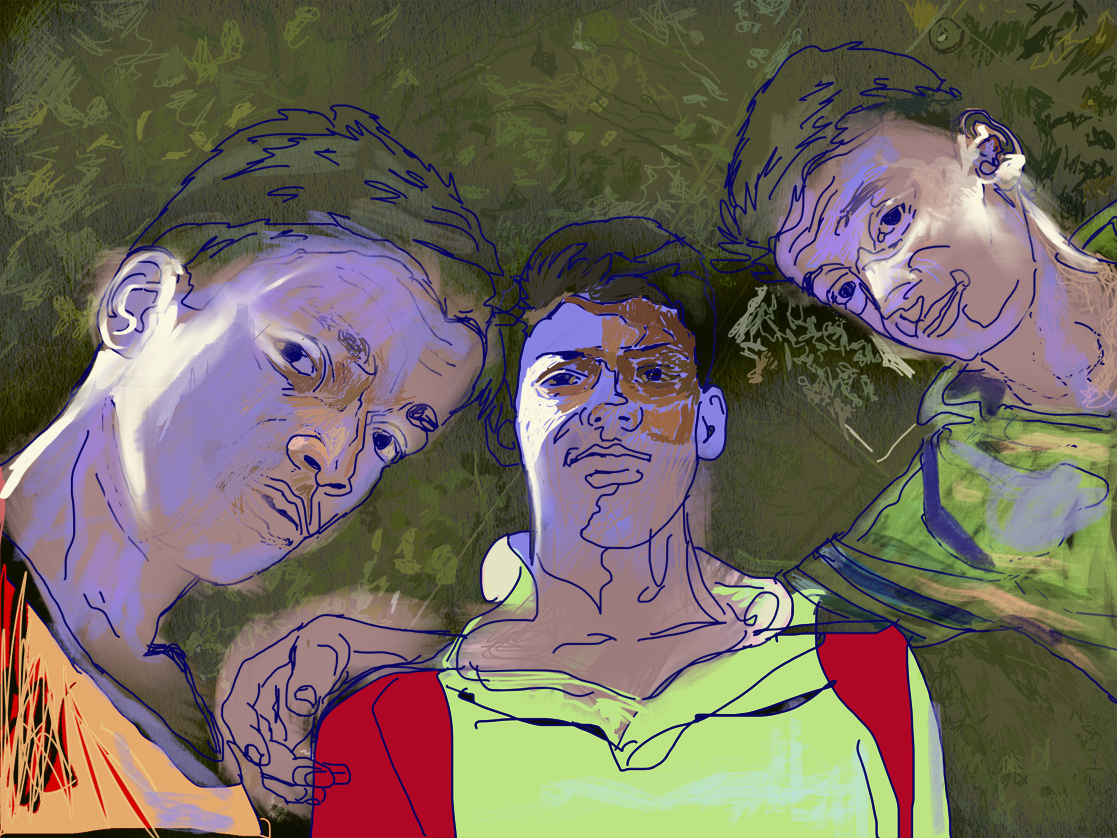 Lords of the Universe  FBSelfie, ProCreate, Pencil 53, Photoshop, iPad, Desktop Digital Image Dimensions Variable © SP/MWW.2015