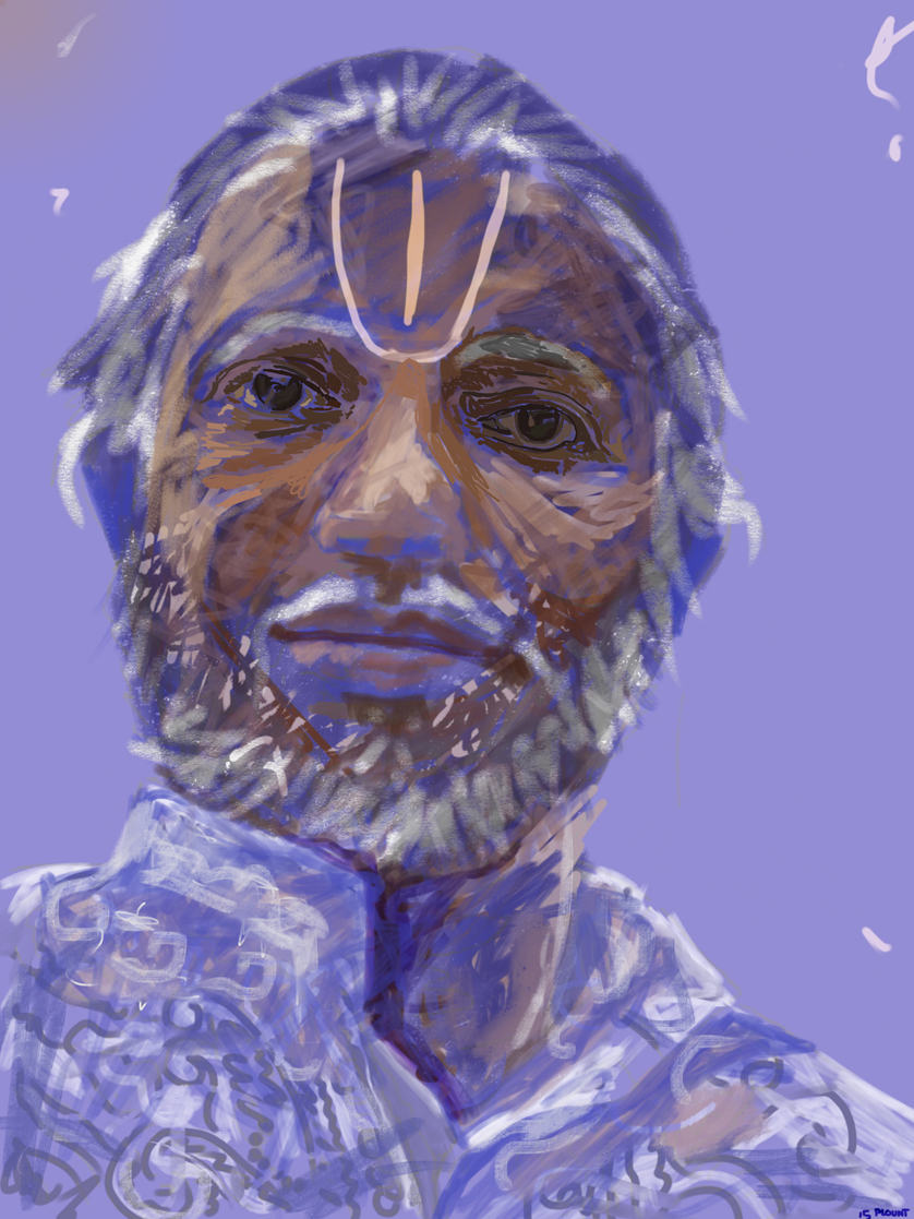 Rajagopal  FBSelfie, ProCreate, Pencil 53, Photoshop, iPad, Desktop Digital Image Dimensions Variable © SP/MWW.2015