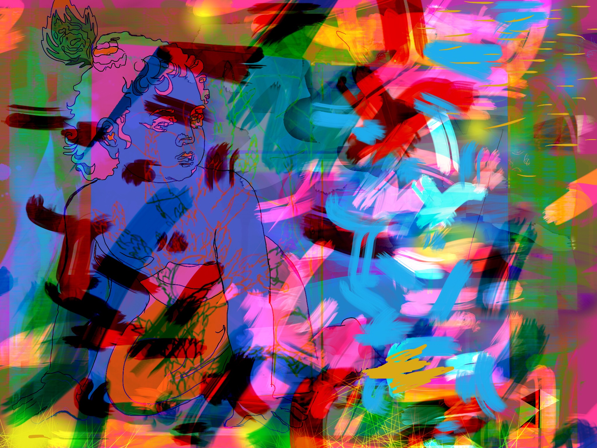 """Baby   Electronics Painting, Sketchbook Scan, iPad, Procreate, Pencil 53, Photoshop. © 2016 dimensions variable to 48"""" x 60"""" giclee limited edition prints available contact the artist"""
