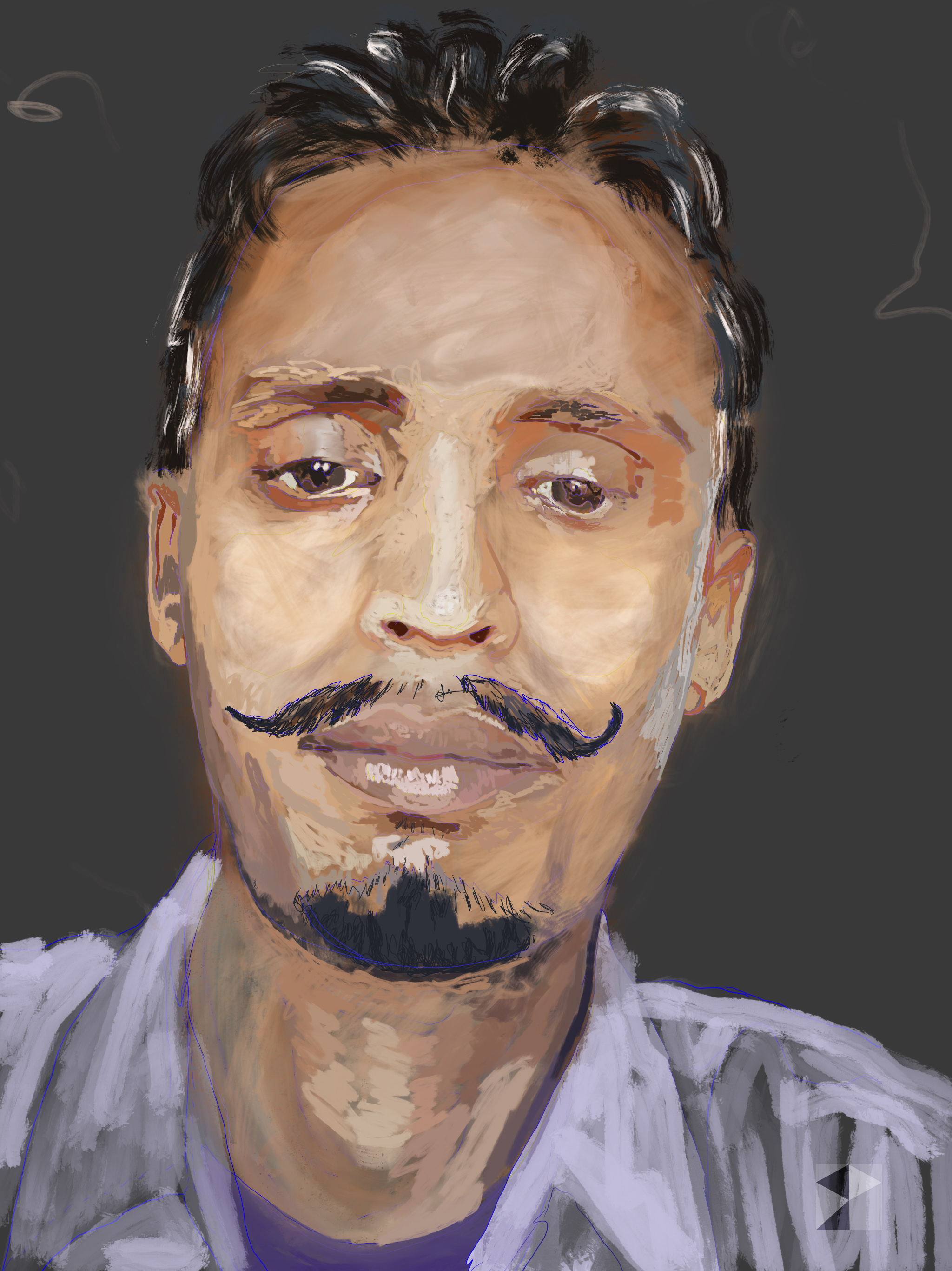 Mithun    FBSelfie, ProCreate, ApplePencil, Photoshop, iPad, Desktop Digital Image Dimensions Variable © SP. 2017