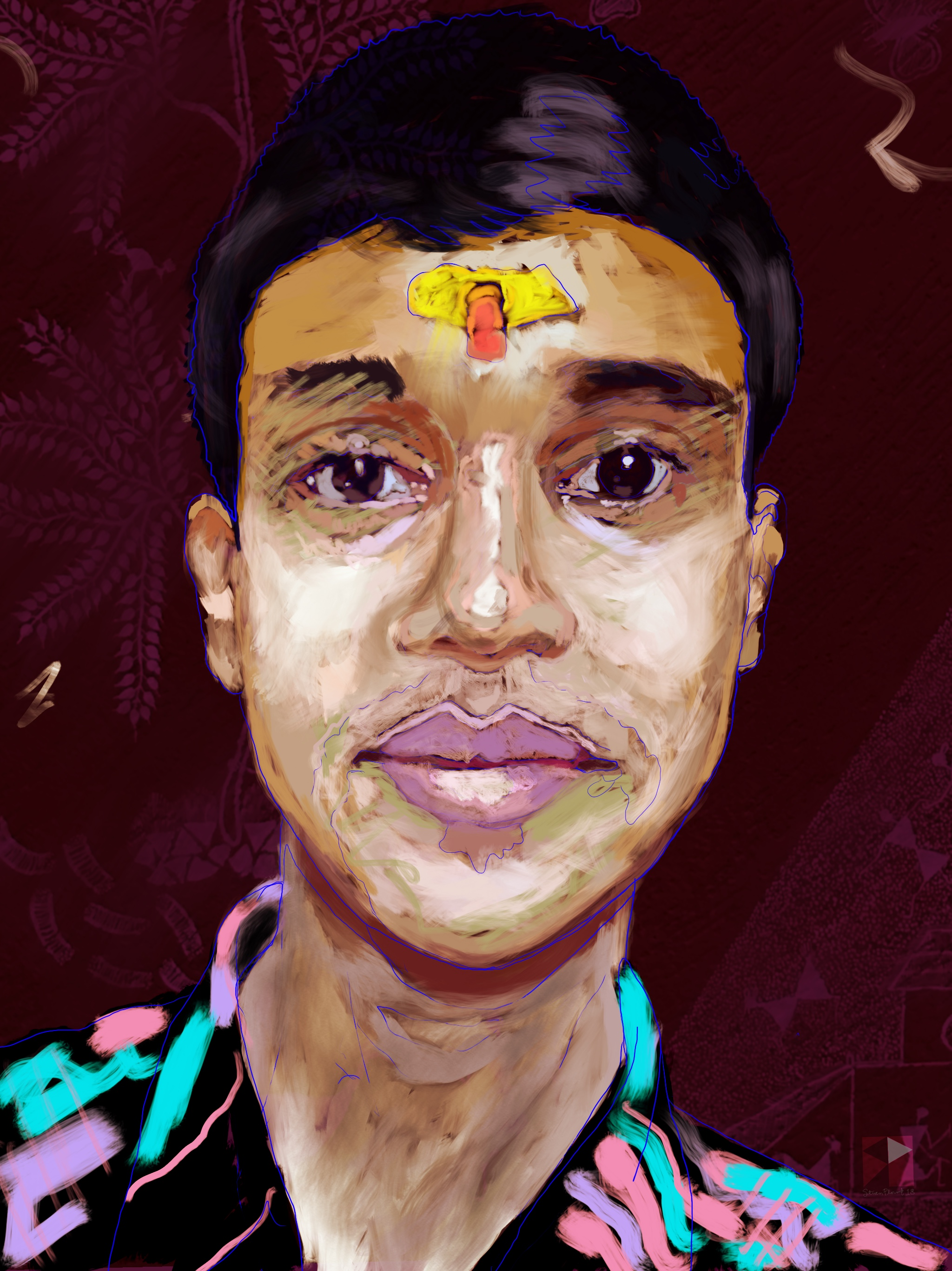 Head of a Hindu Boy   FBSelfie, ProCreate, Apple Pencil, Photoshop, iPad, Desktop Digital Image Dimensions Variable © SP.2018
