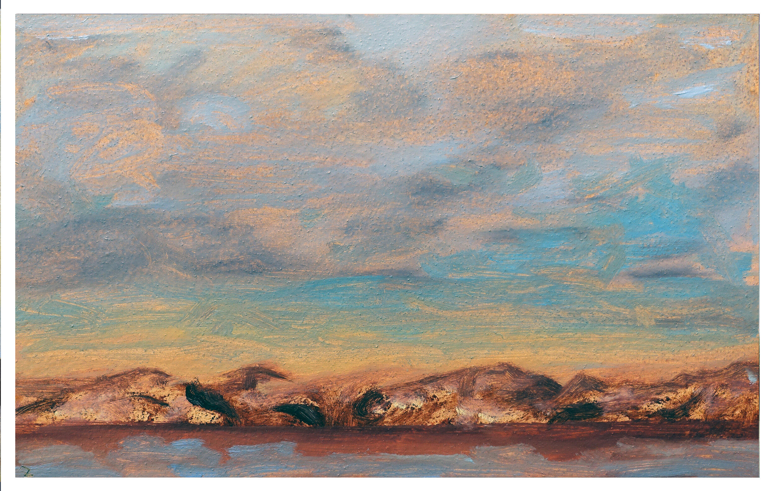 "River Hills and Sky    Oil on Paper (Arches 156#) 7"" x 11"" (17.78cm x 27.94cm)  © 2019"