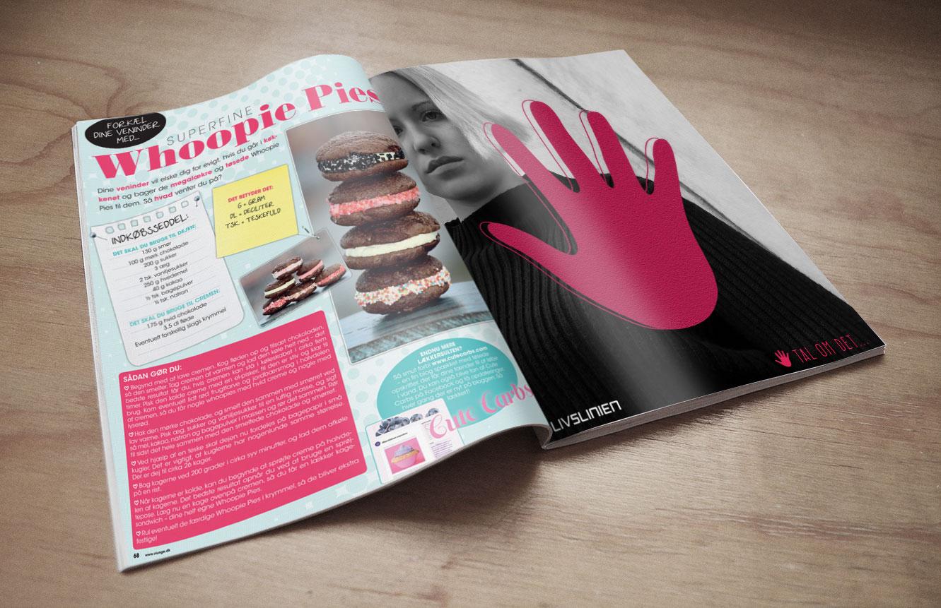 Ad in teen magazine Vi Unge