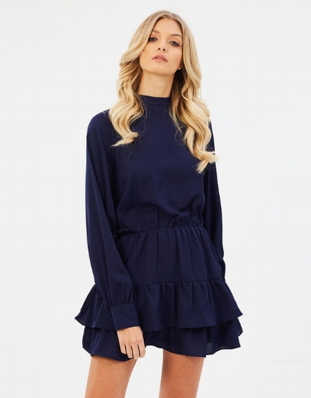 Becca High Neck Dress - ATMOS & HERE