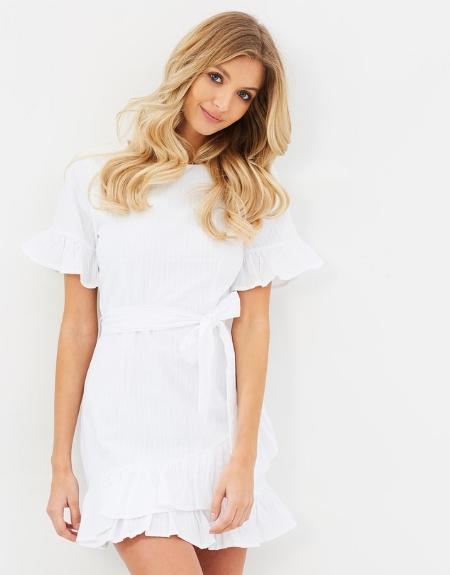 Harper Cotton Ruffle Dress - ATMOS&HERE
