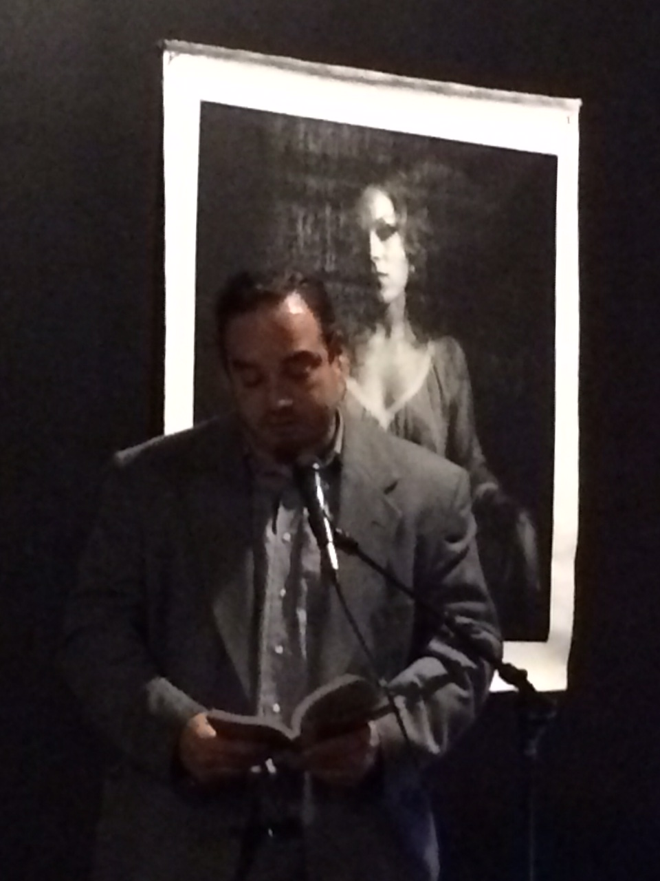 Max Mueller reading the story of his birth at Participant