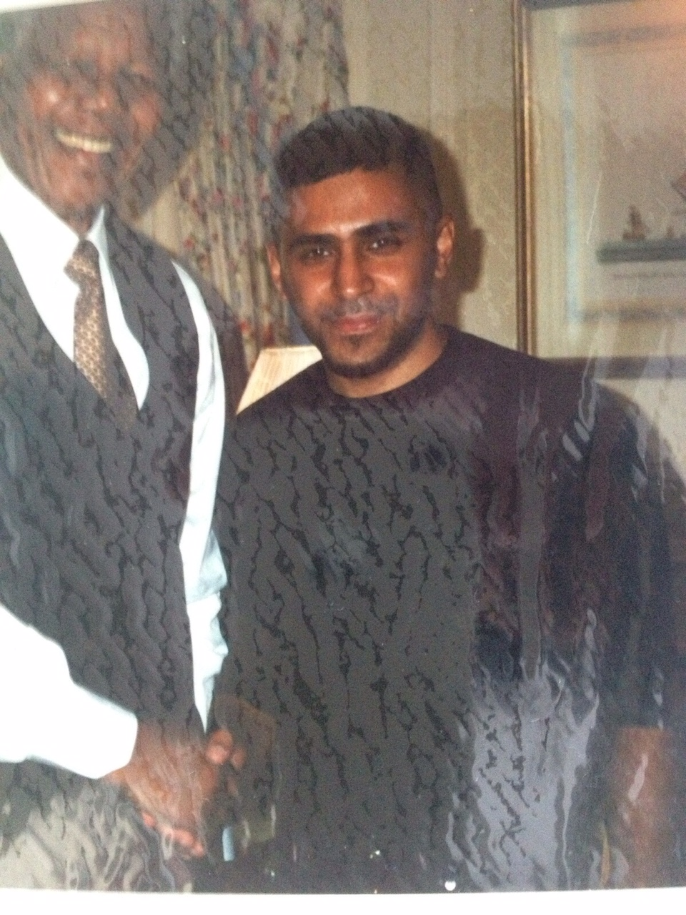 A young UK Apache with 'Uncle Nelson' - Nelson Mandela