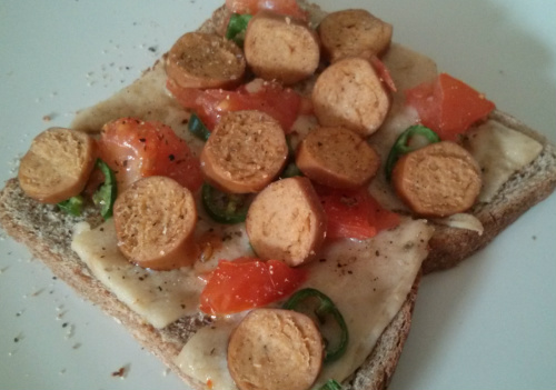 Savoury toppings on toast
