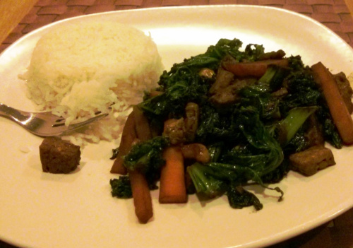 stir fry with rice 3