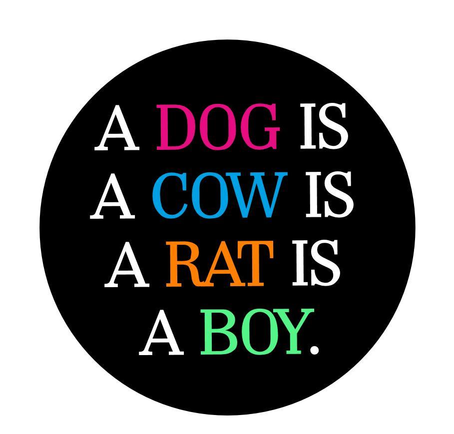 Badge about speciesism