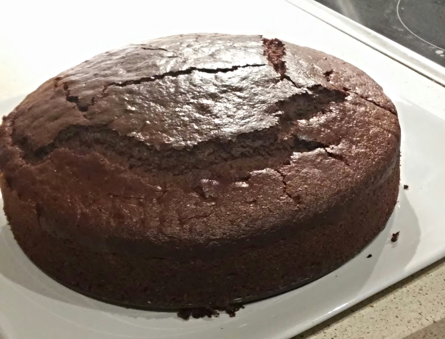 Out of the cake tin