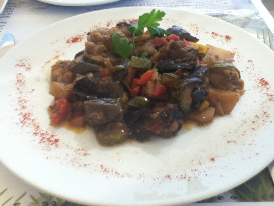 Briam - a type of vegetable casserole that's baked in the oven