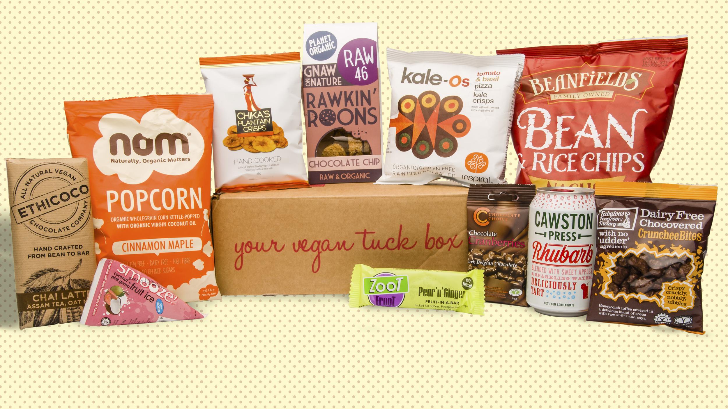 Vegan Tuck Box of August 2015