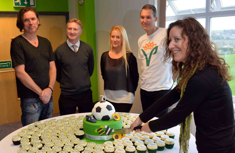 The Vegan Cakery was asked to bake a special 70th anniversary cake for The Vegan Society. The event was at Forest Green Rovers FC in November 2014.