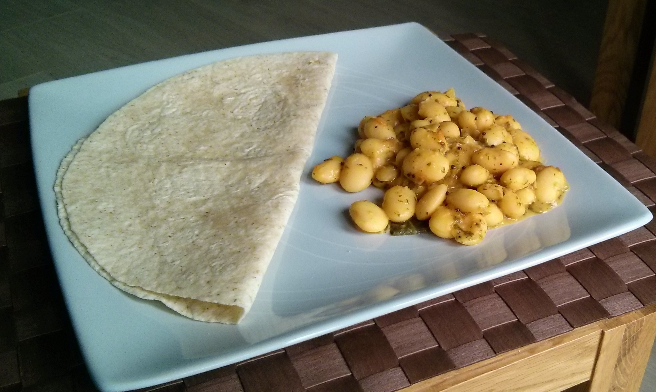Link to recipe for Butter Beans Shaak (curry)