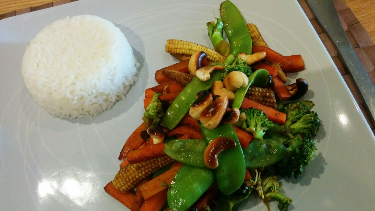 Link to recipe for stir fried vegetables with rice