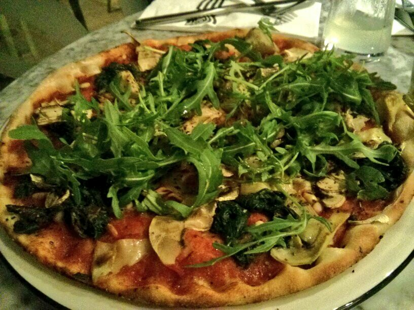 Link to eating vegan at Pizza Express