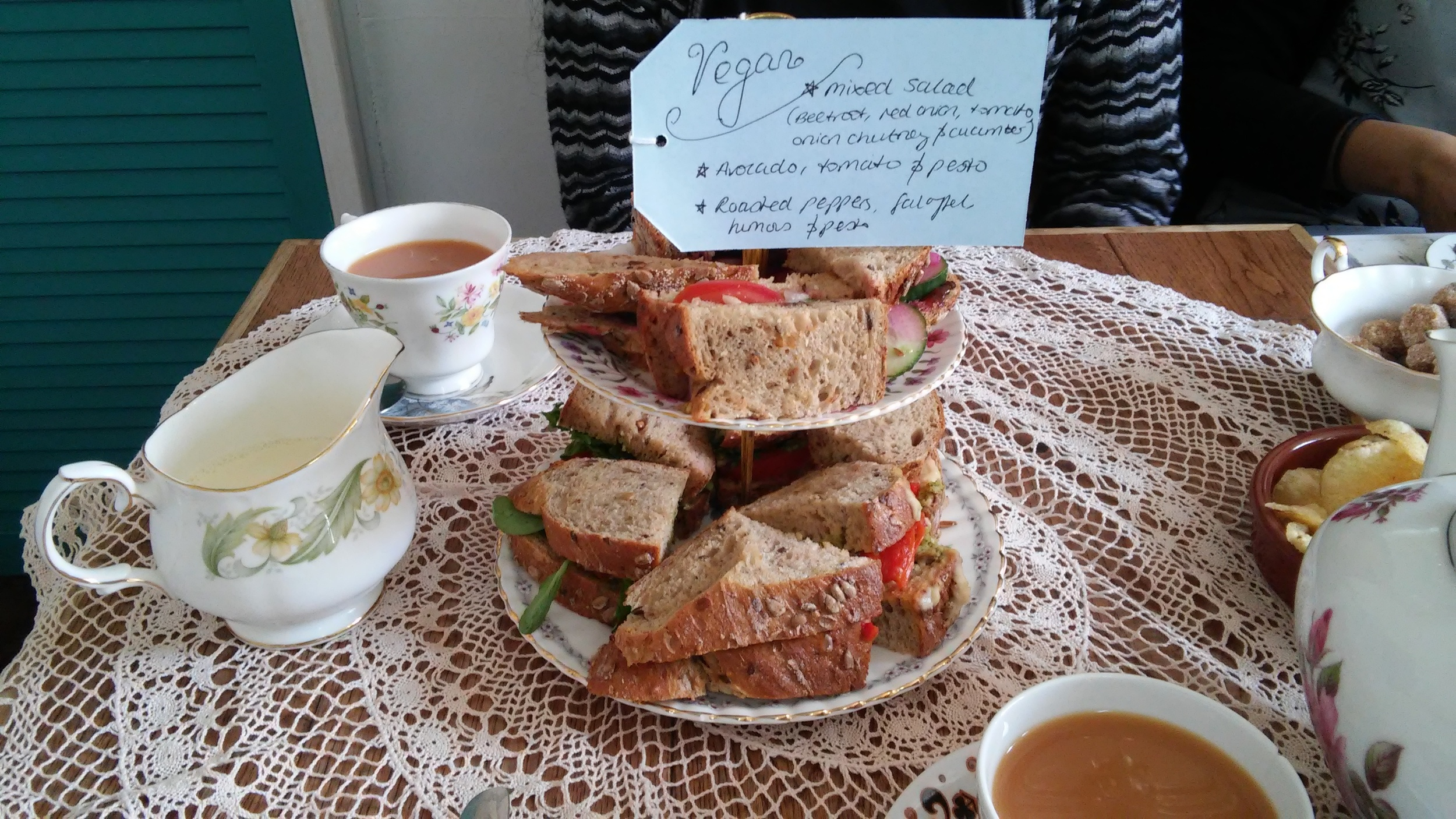 Vegan afternoon tea