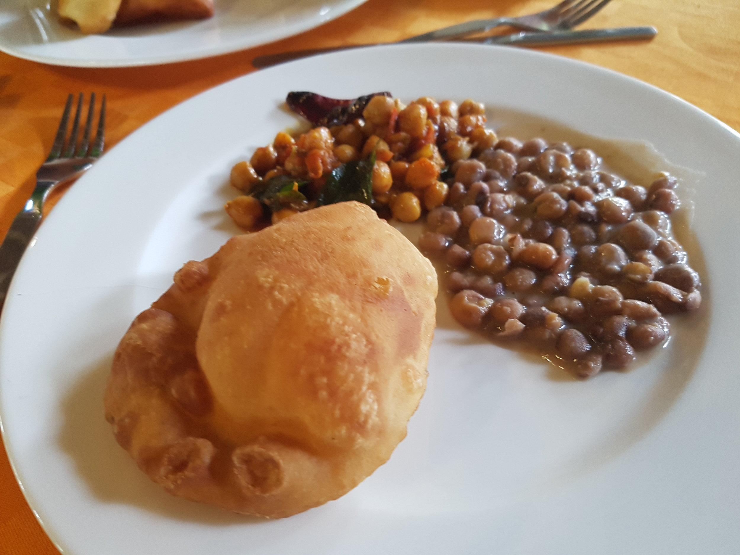 Vegan food at Southern Palms