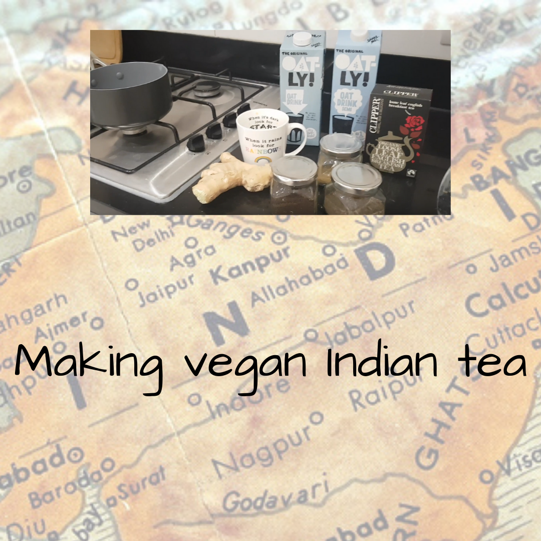Making vegan Indian tea