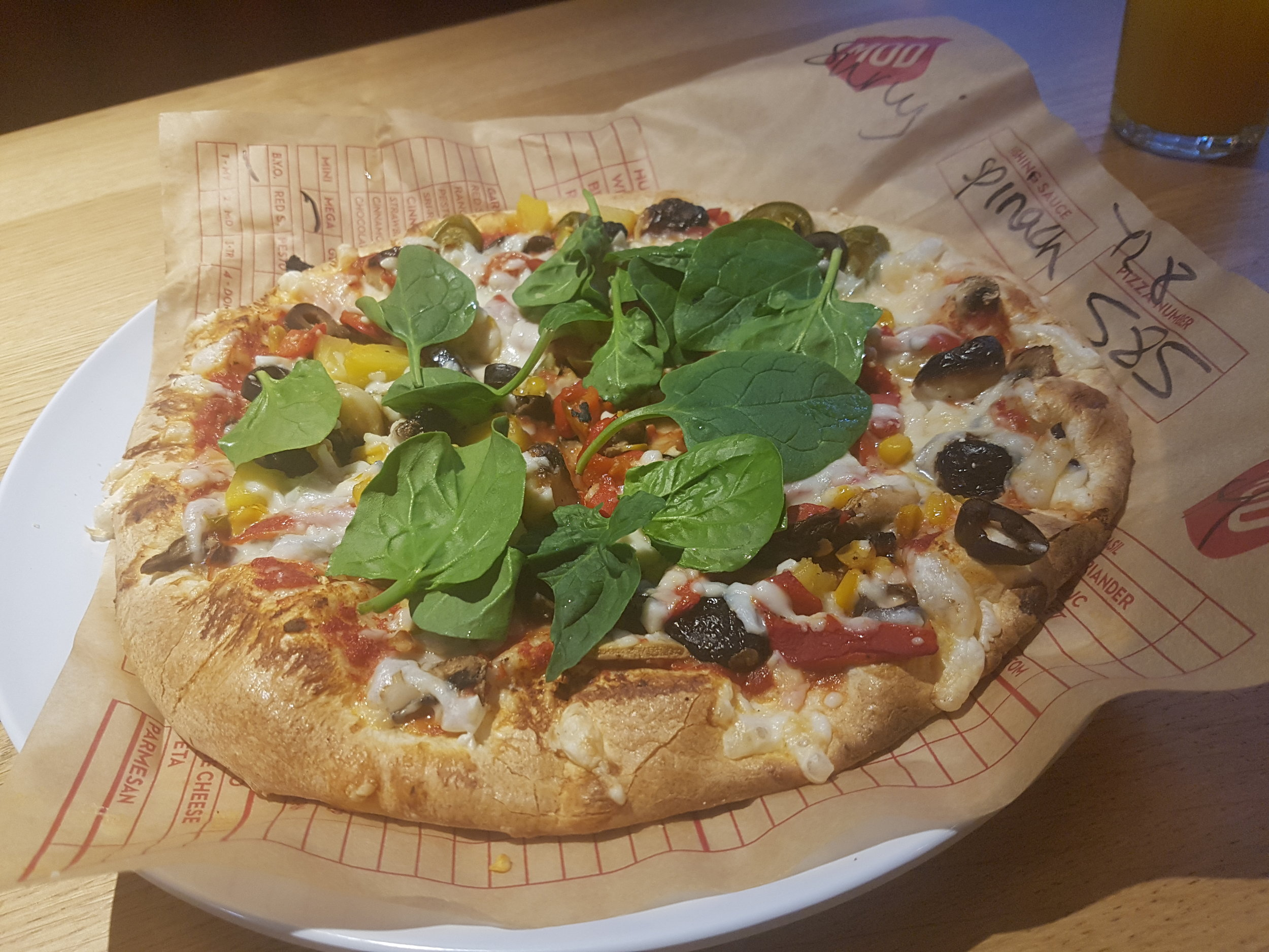Vegan options at MOD Pizza