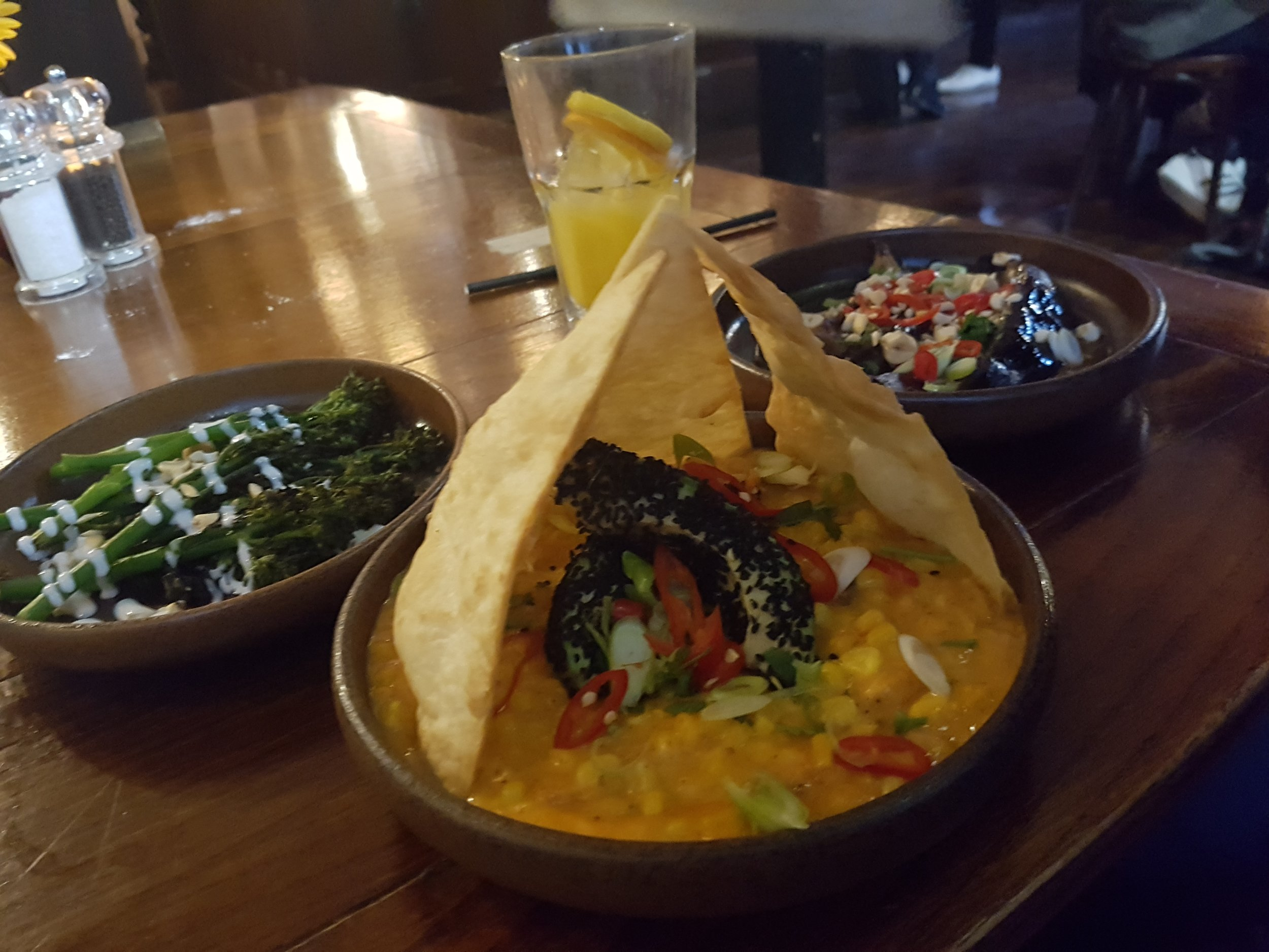 Vegan options at The Greener Man Pub