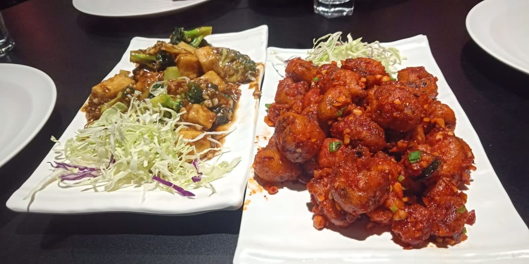 Vegan options at Wok on Fire in Ahmedabad, India