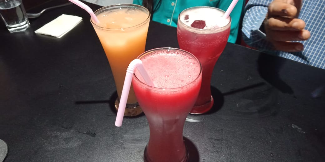 Vegan mocktails at Wok on Fire in Ahmedabad, India