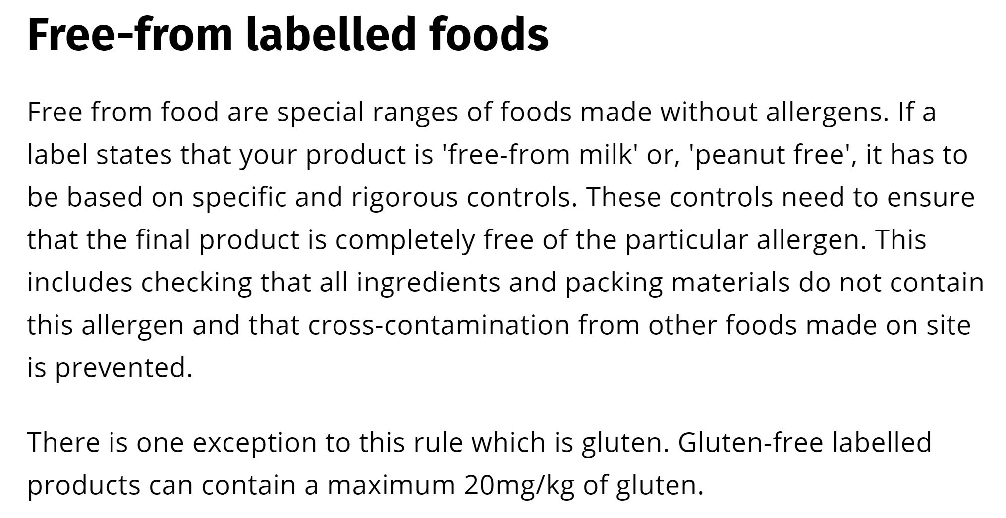 Source - Food Standards Agency