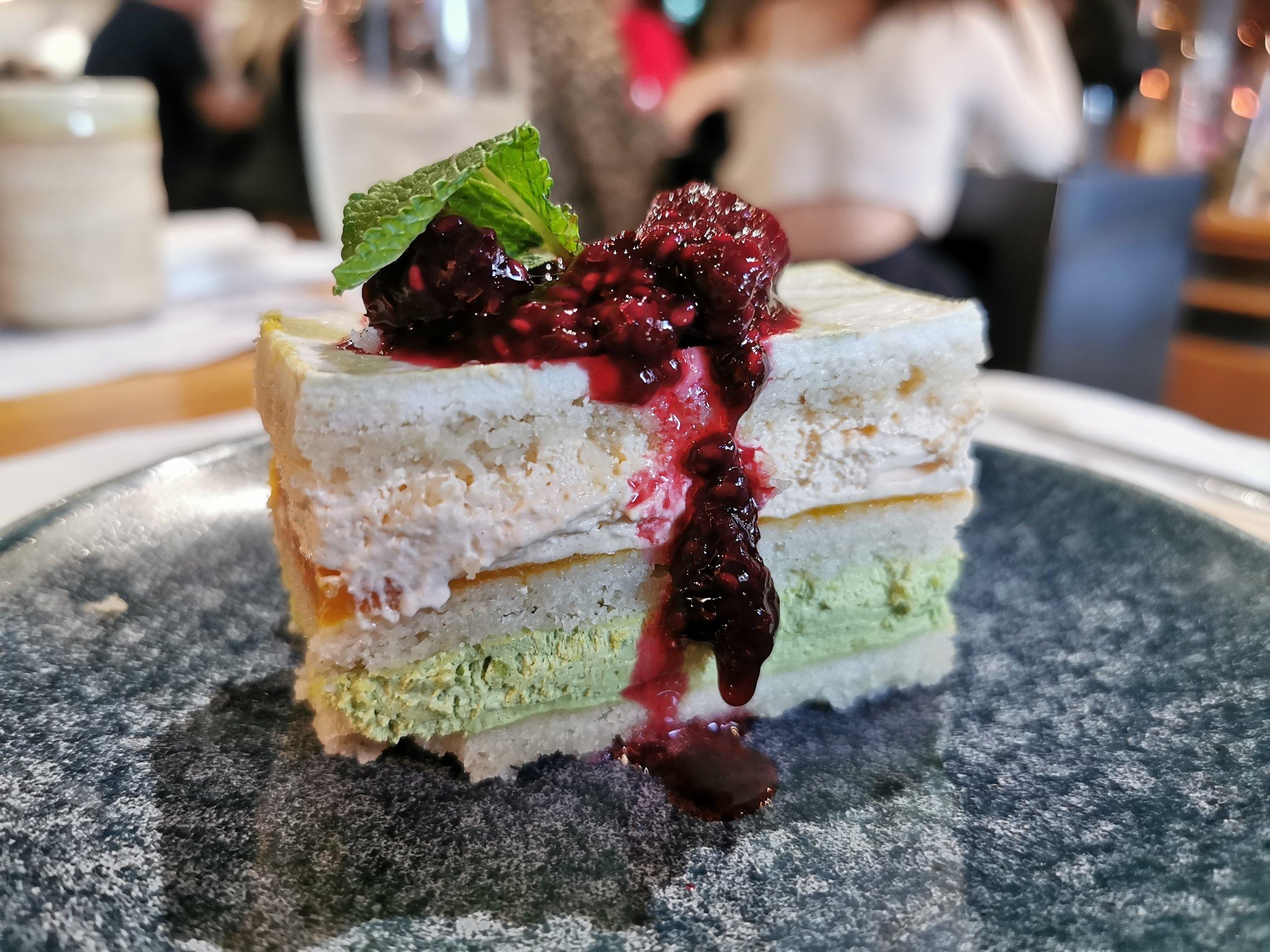 Mango + Matcha Layer Cake