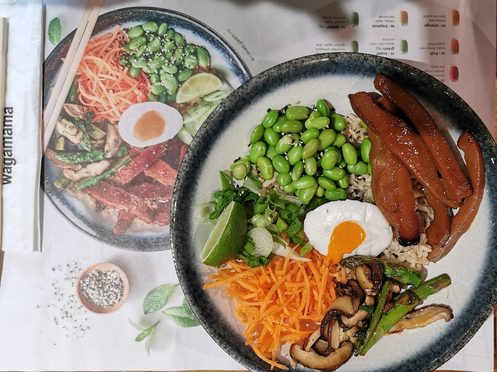 Vegan options at Wagamama