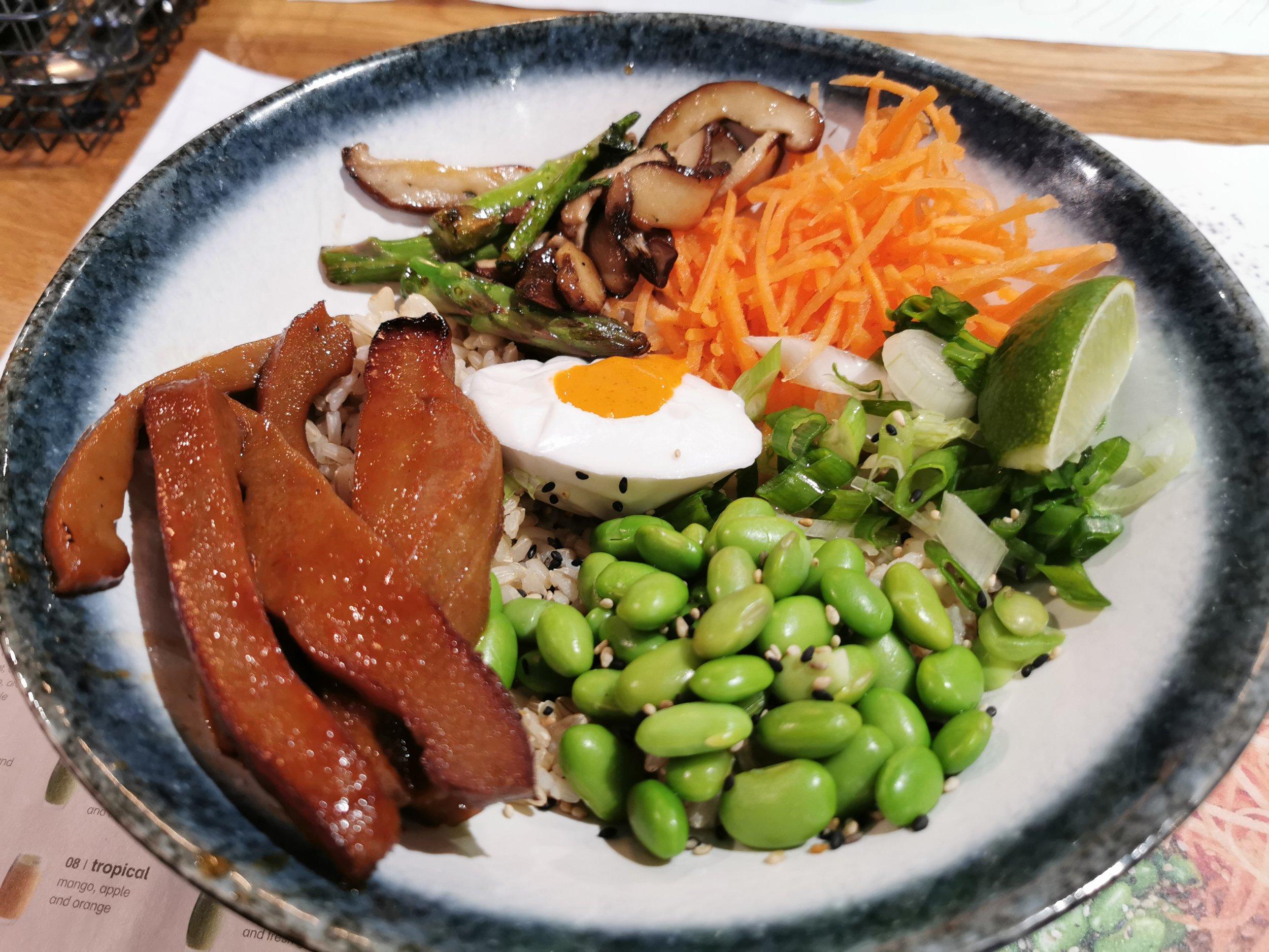 Vegan options at Wagamama