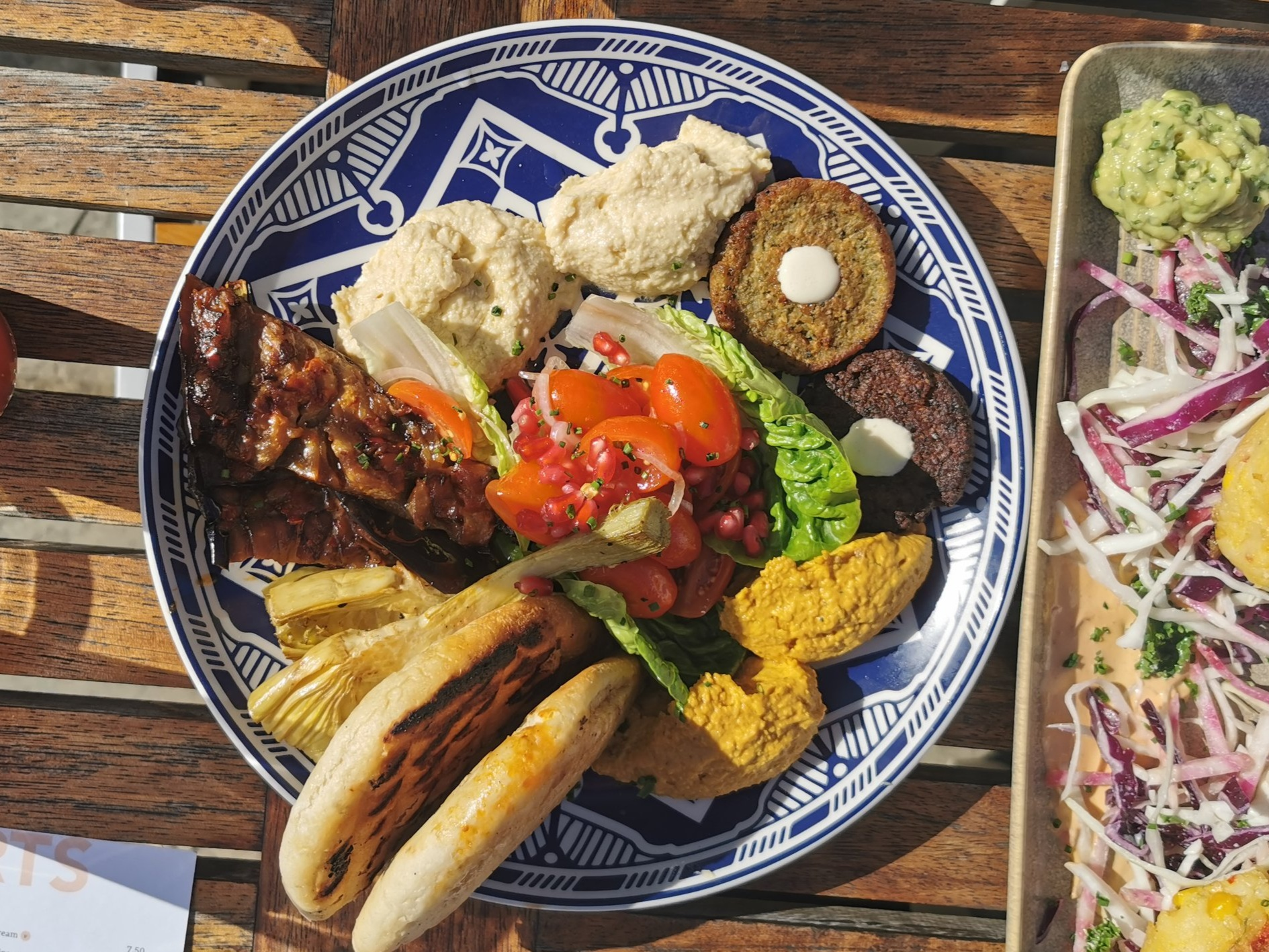 Vegan Glazed Moroccan Mezze Platter at The White Bear in Ruislip