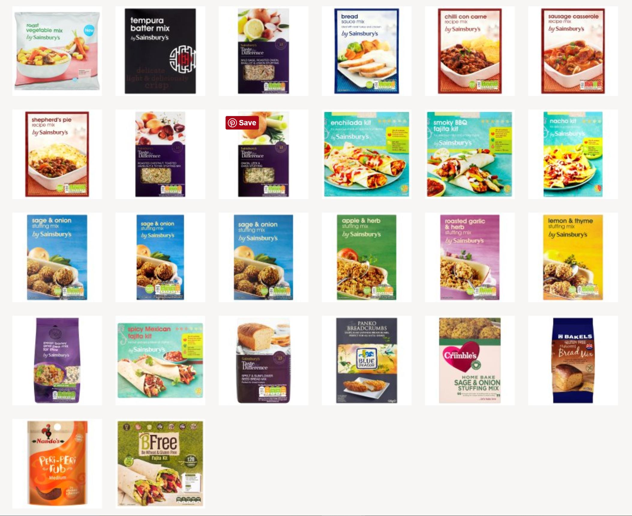 Vegan ready made kits in Sainsbury's