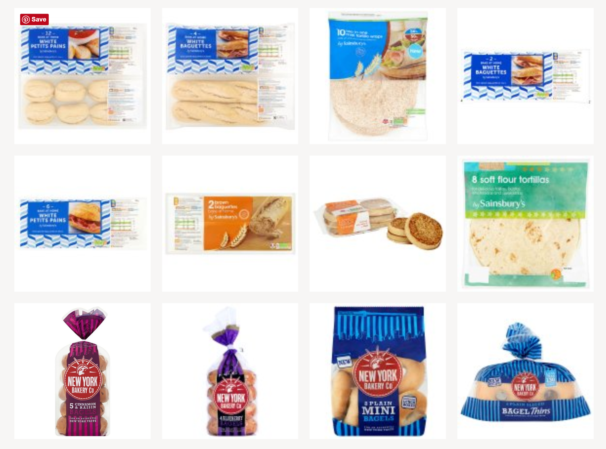 Vegan wraps, bagels and baguettes in Sainsbury's